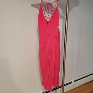 Fame + Partners Custom Pink Midi Dress